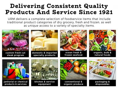 URM Foodservice delivers to and supports over 1,500 diverse businesses in four states.